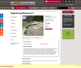 Engineering Mechanics II, Spring 2006
