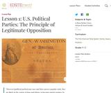 Lesson 1: U.S. Political Parties: The Principle of Legitimate Opposition
