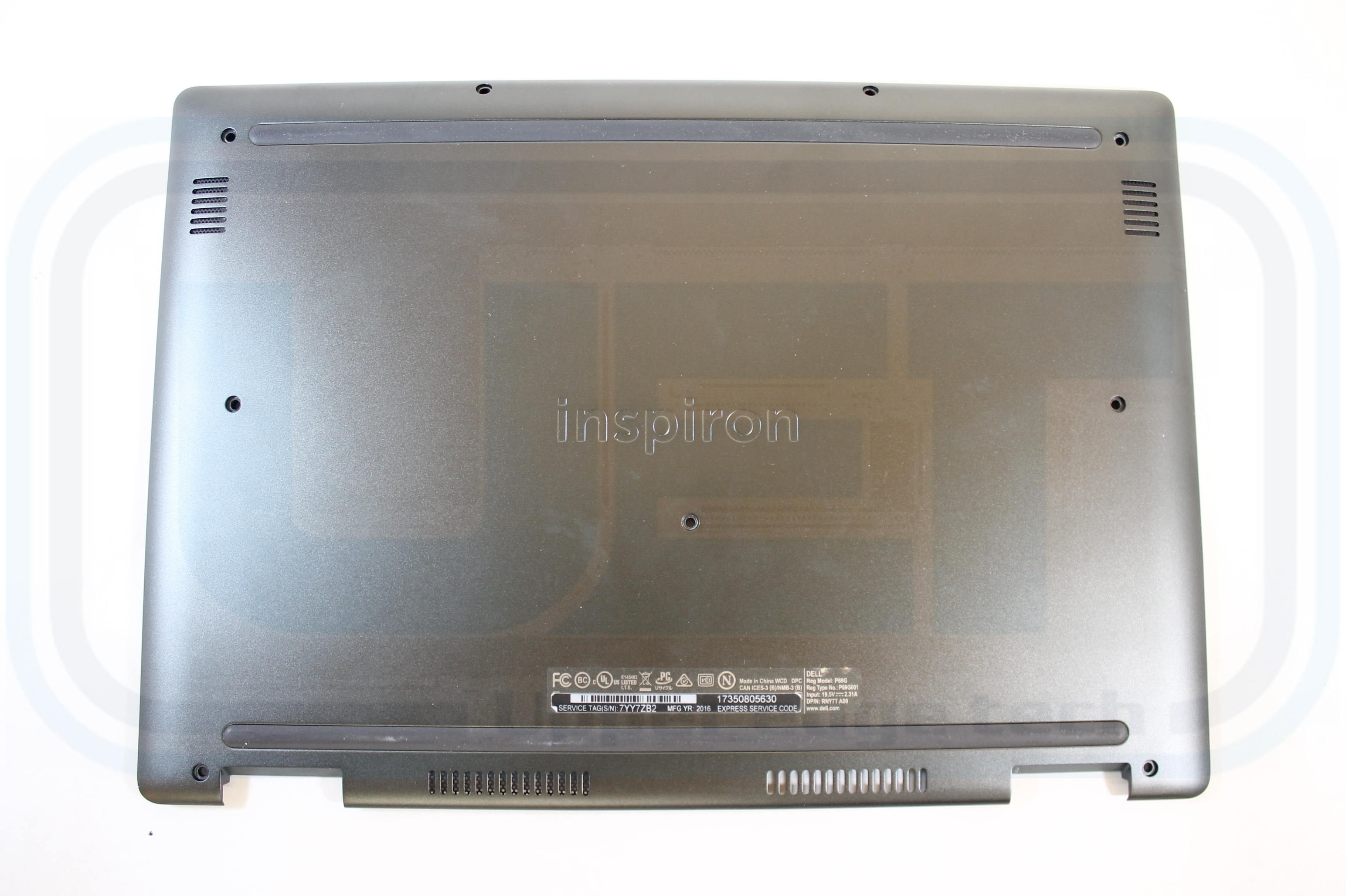 Dell Laptop Base GGVH1 Gray 460 07S01 0002 Inspiron 7368 Grade B