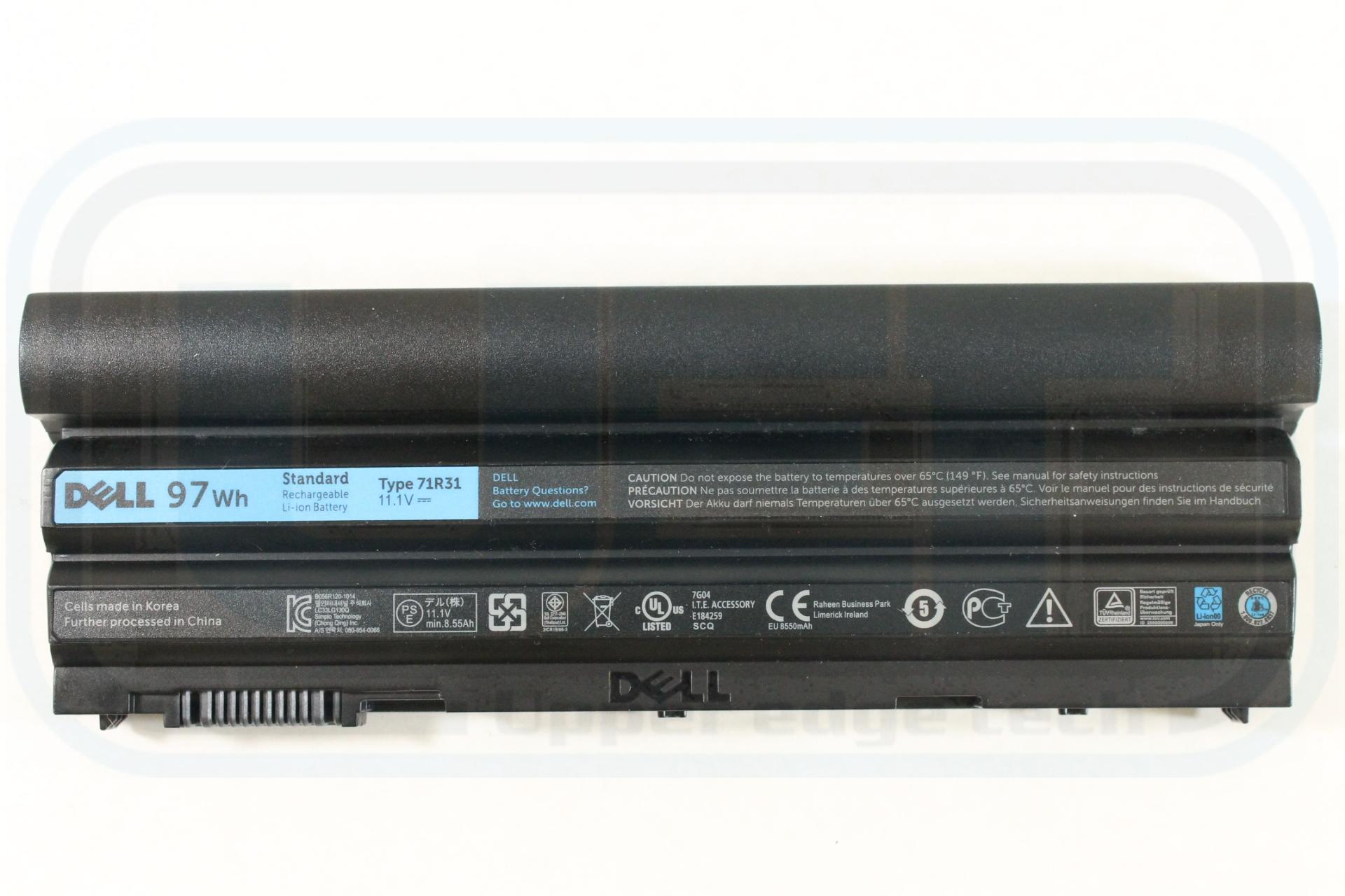 Dell OEM Genuine Battery CRT6P 9 Cell 97 WHr 8550 Latitude E6540 E6440 New