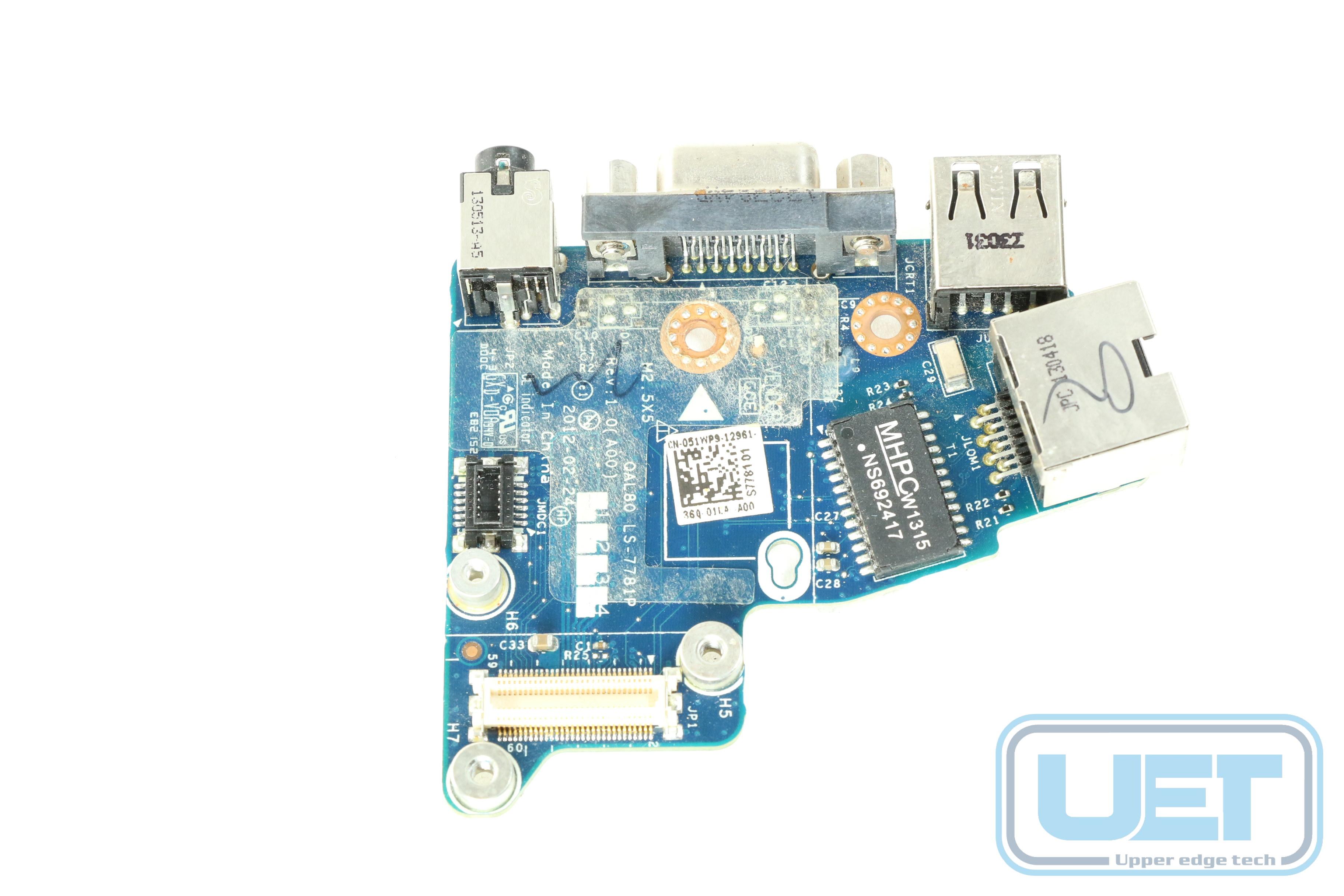 Dell Latitude E6430S FRFCY Audio VGA Board LS-7741P