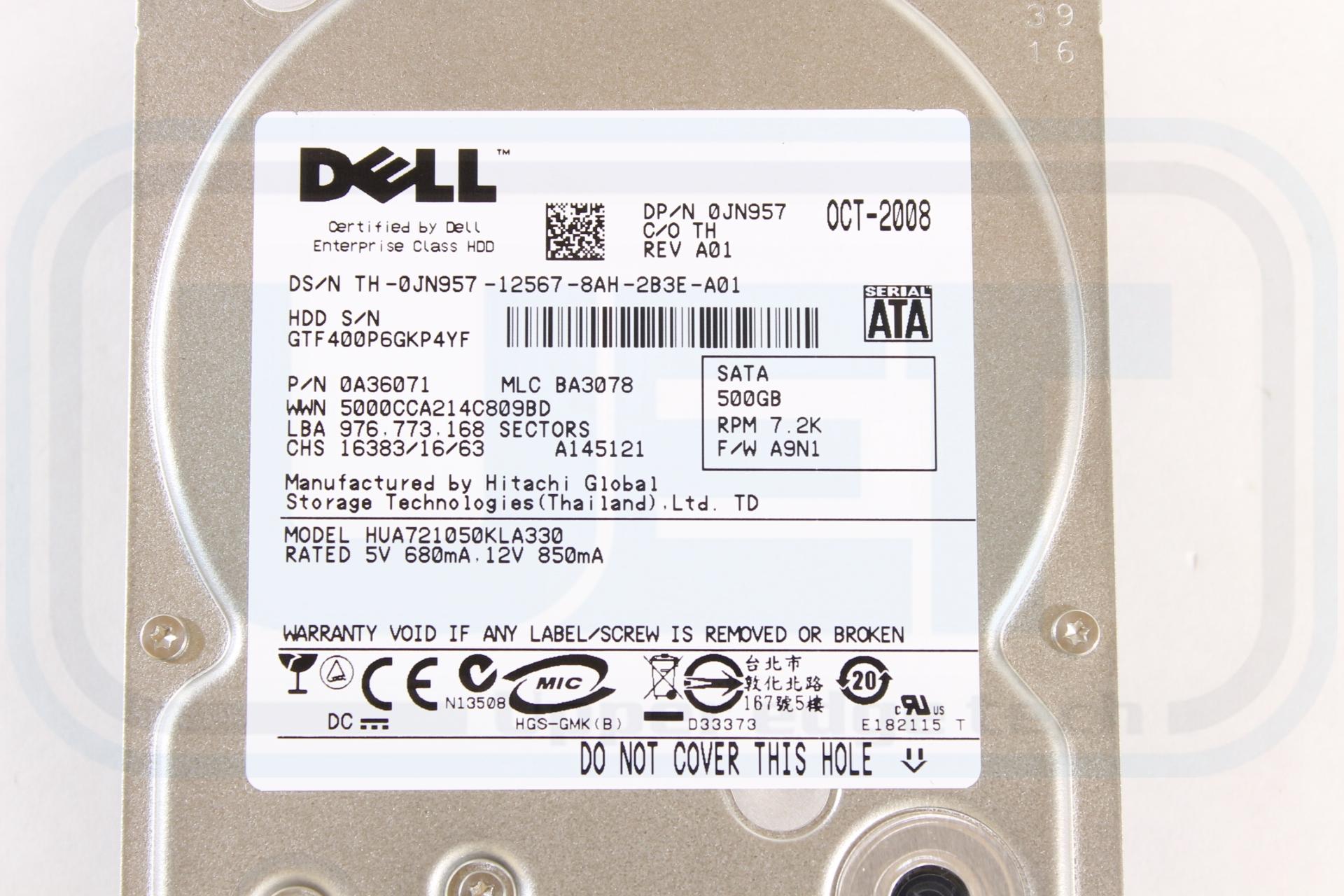 Dell JN957 HUA721050KLA330 3 5
