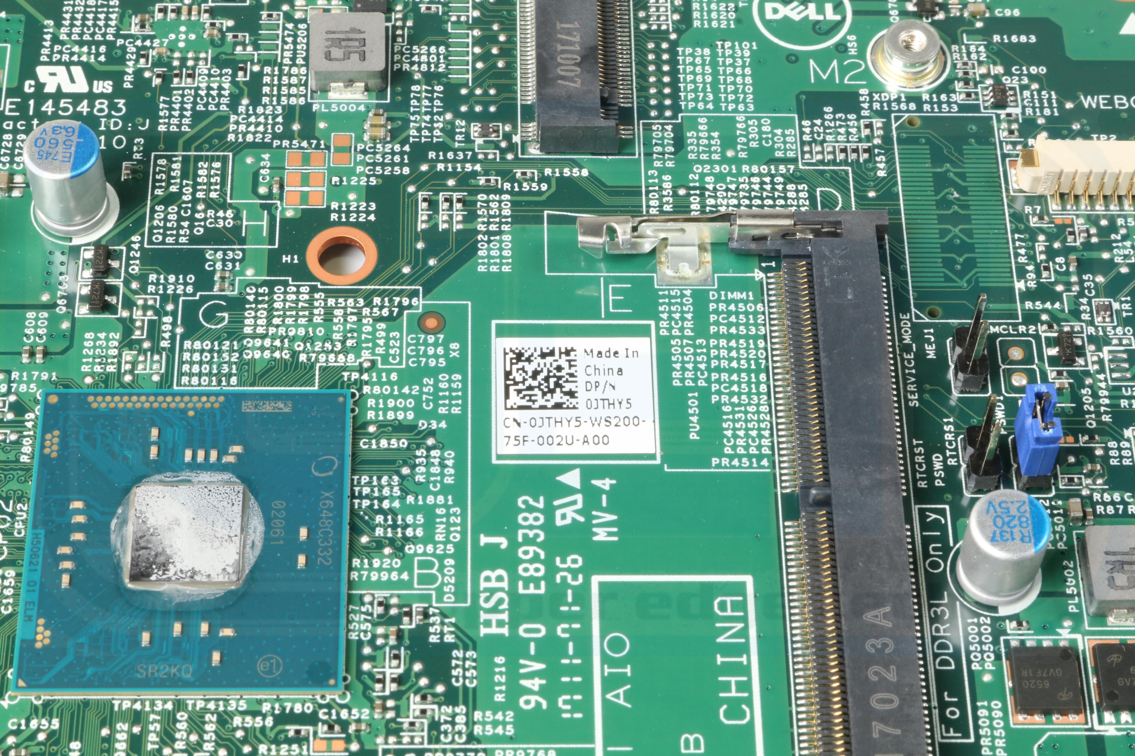 Dell Inspiron 20 3052 AIO Motherboard w// Intel Celeron N3150 1.6Ghz CPU W03YM