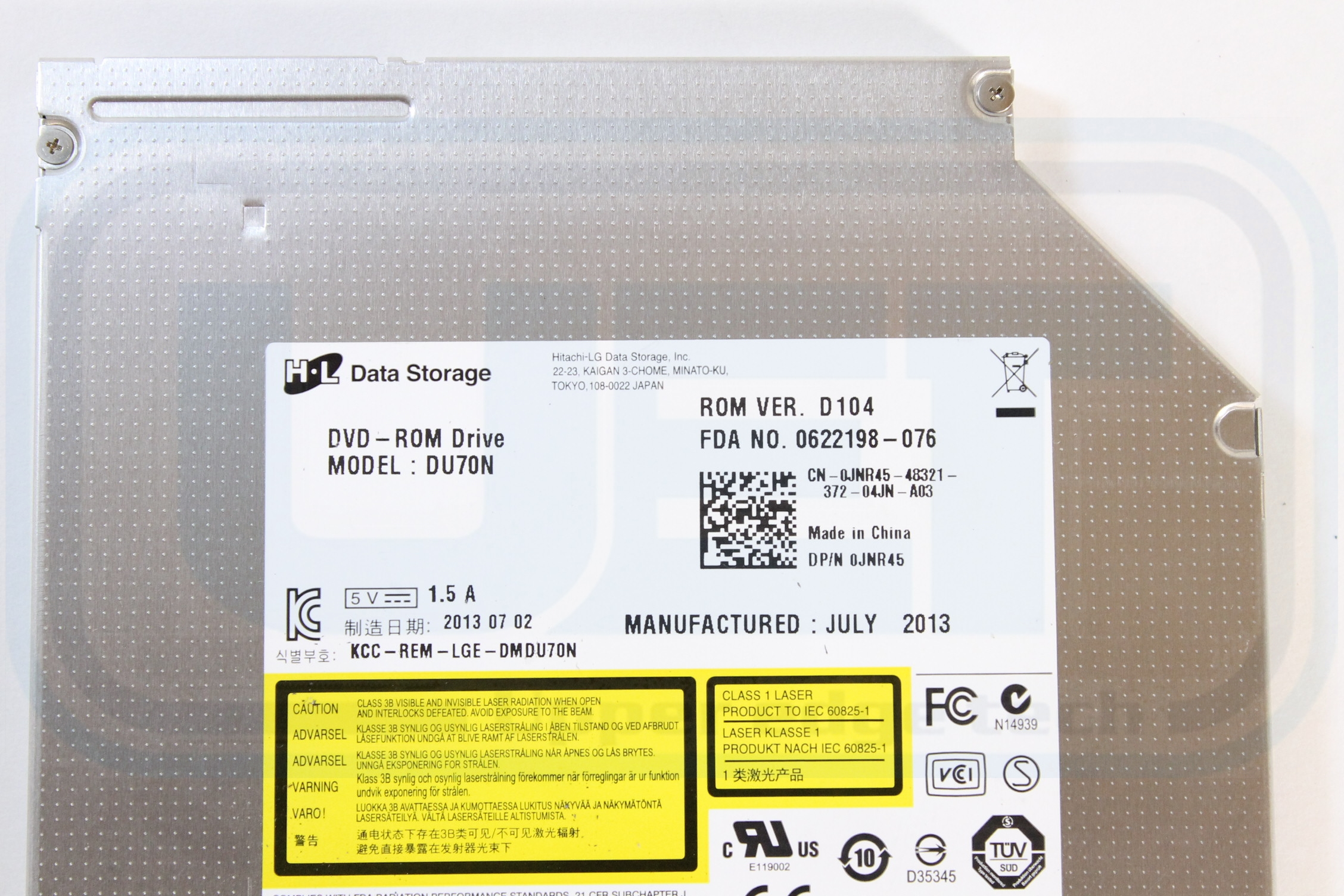 Dell Latitude E6430S SATA DVD-ROM Drive JNR45 DU70N Tested