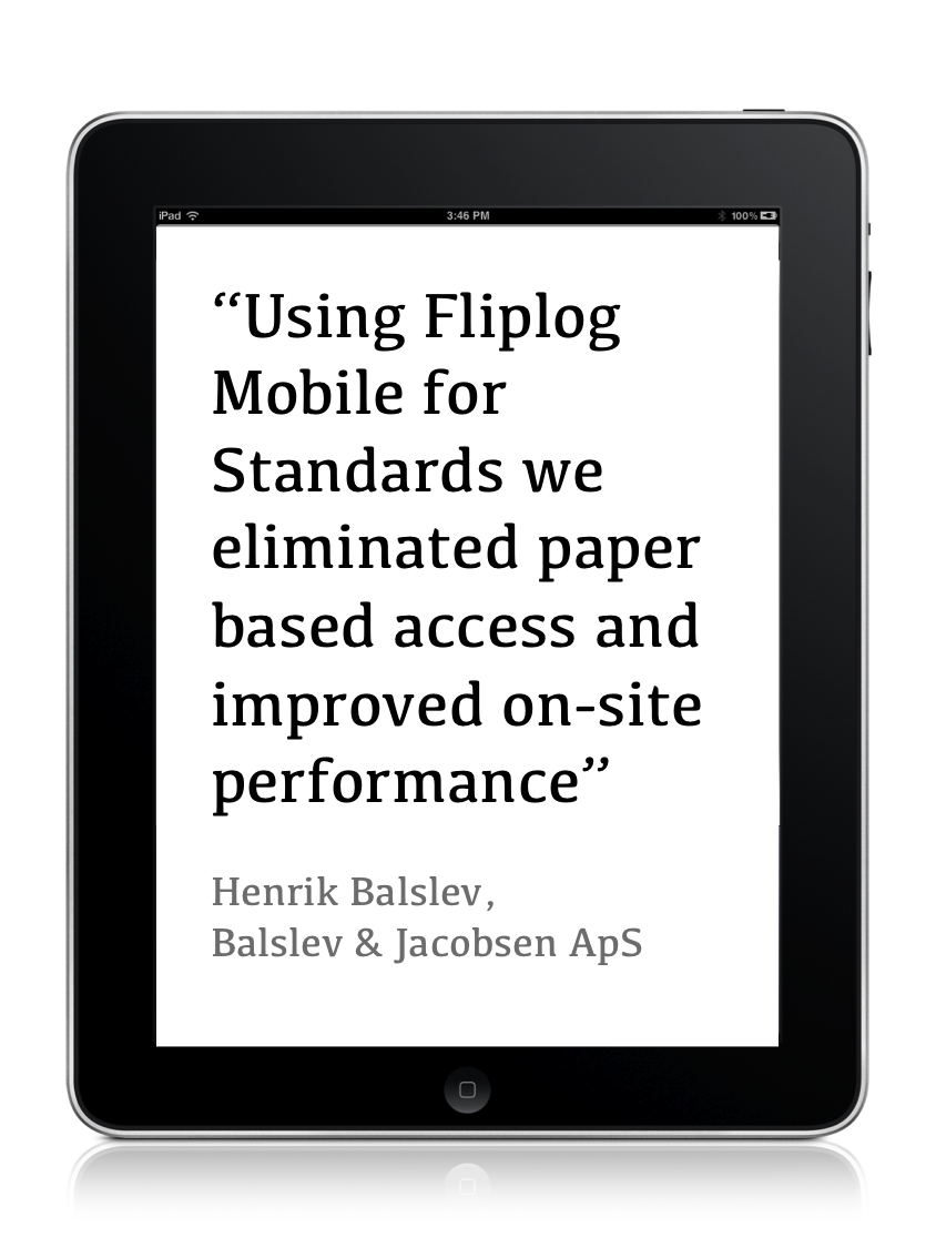 fliplog standards testimonial