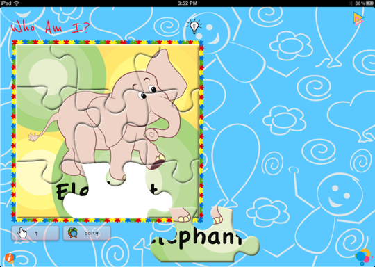 Solve animal puzzles