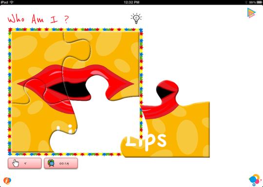 Solve bodyparts puzzles