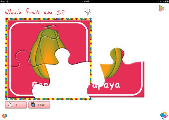 Solve Fruits puzzles