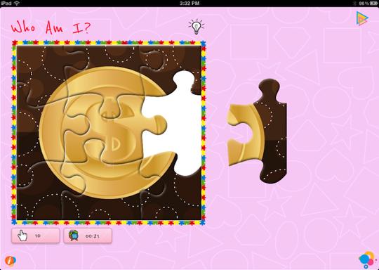 Solve Shapes puzzles