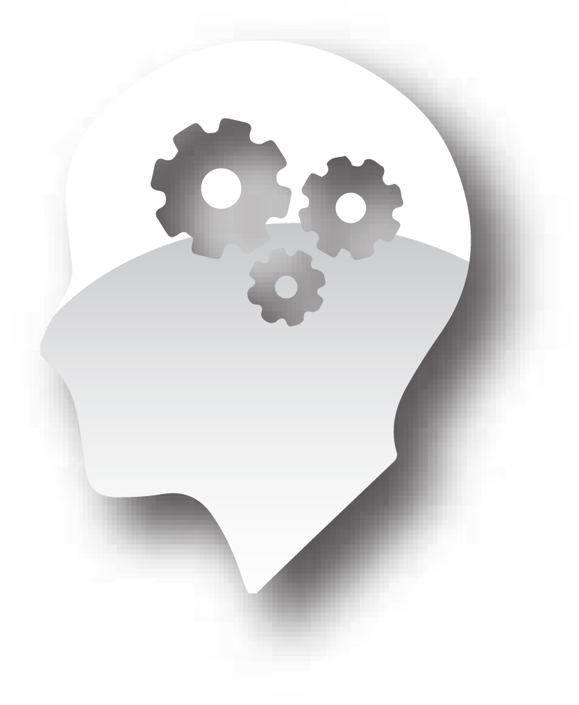Brain and cog icon