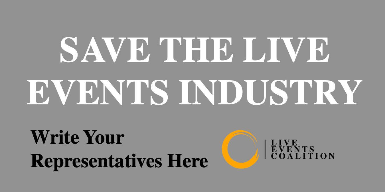 Live events coalition   save the live events industry   write your representatives letter campaign