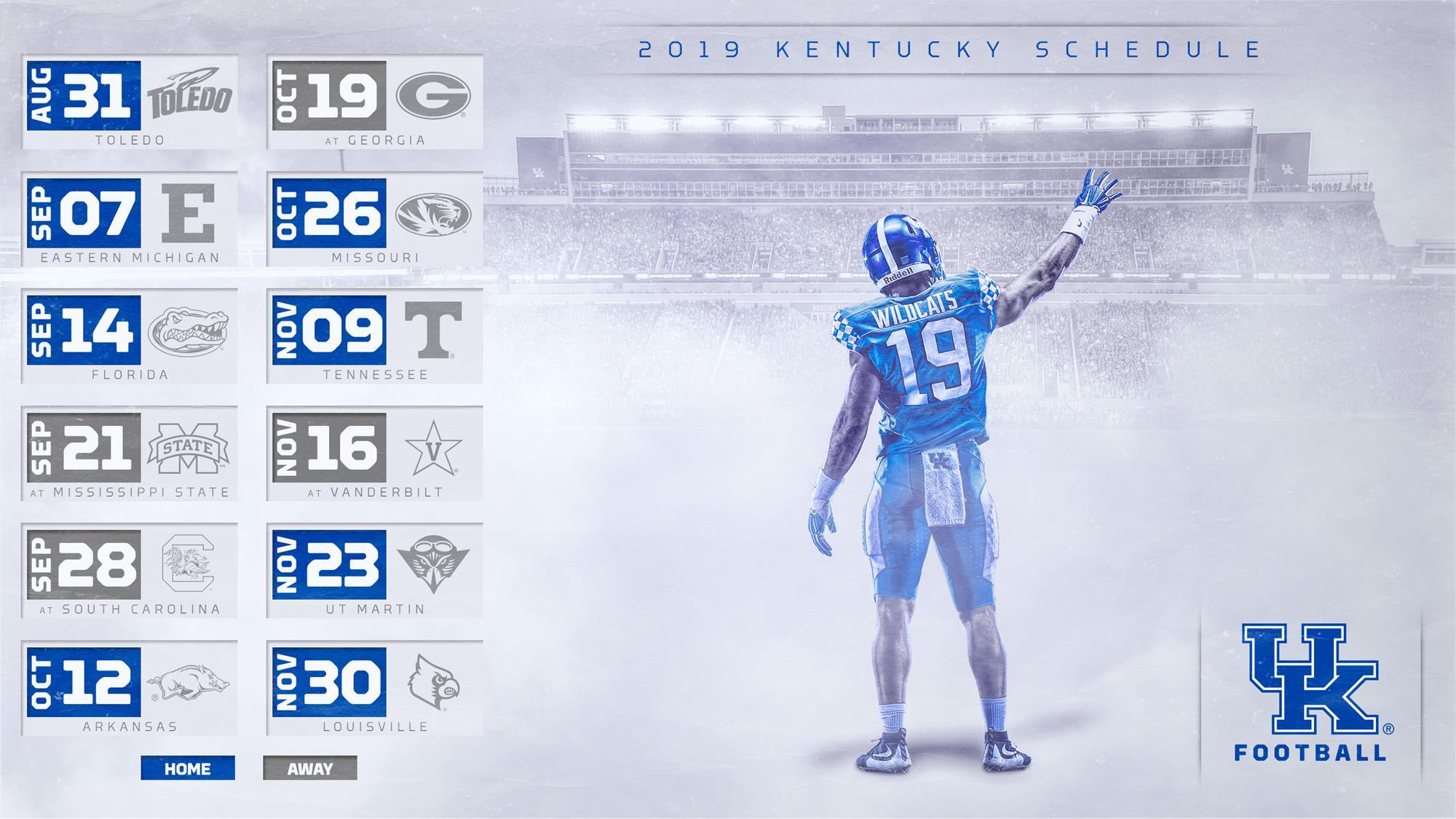 Uk Men S Basketball 2018 2019 Schedule: Kentucky Set For Home-Heavy 2019 Football Schedule