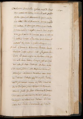 Baldi autograph, Cronica (ca. 1596); Copernicus entry