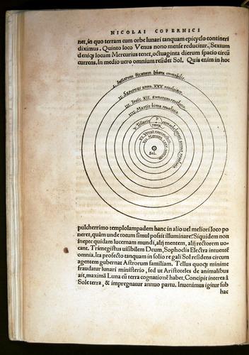 Nicolas Copernicus, De revolutionibus (1543), cosmic section