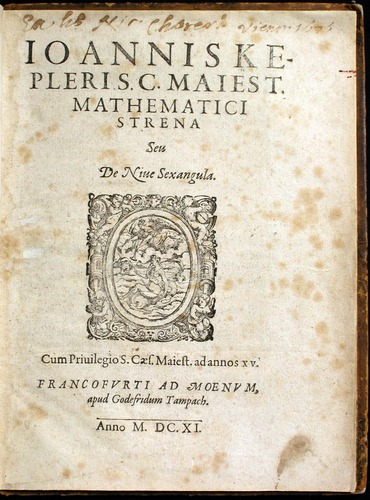 Johann Kepler, Strena (1611), University of Oklahoma Libraries, History of Science Collections