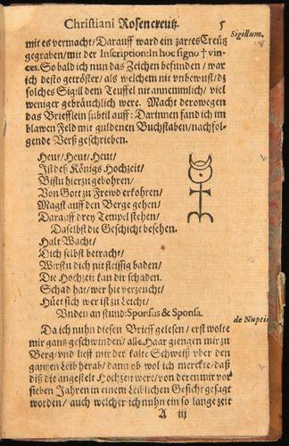Chymische Hochzeit (1616), with Monas Hieroglyphica