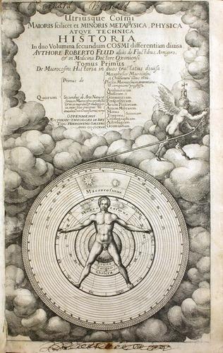 Robert Fludd, Utriusque cosmi maioris scilicet et minoris metaphysica (Oppenhemii, 1617), title page