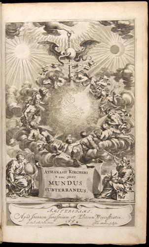 Athanasius Kircher, Mundus subterraneus (1665), title page