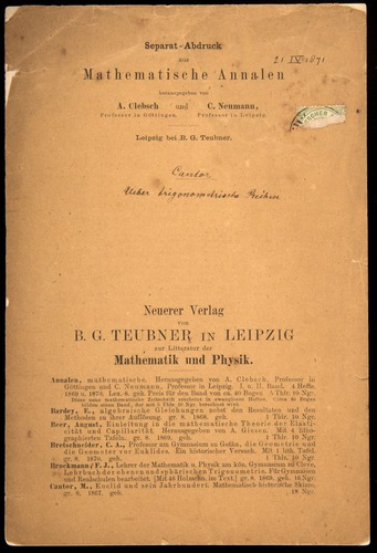 Image of Cantor-1871-000-cover