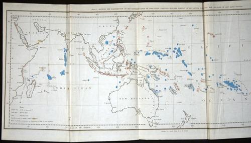 Charles Darwin, Coral Reefs (1842), map