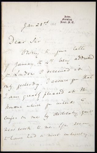 Image of Letter-1869-Jan23-Darwin-01