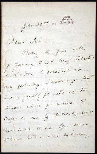 Image of Letter-1869-Jan23-Darwin-01