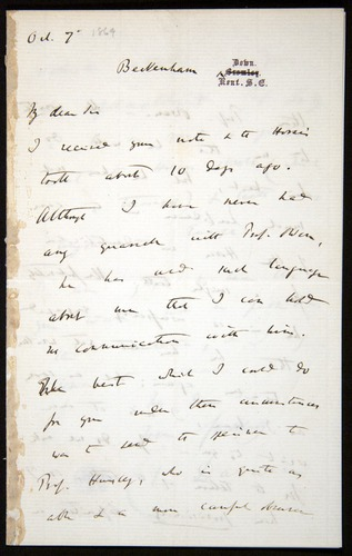 Image of Letter-1869-Oct7-Darwin-01