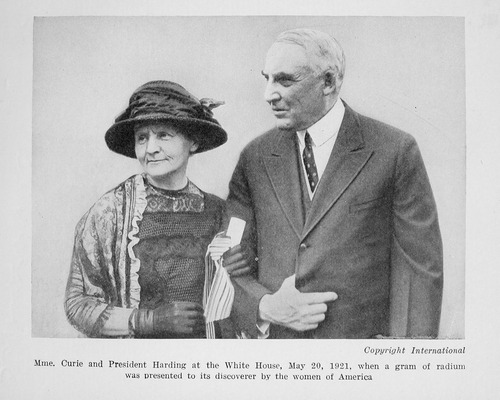 Mme Curie and President Harding