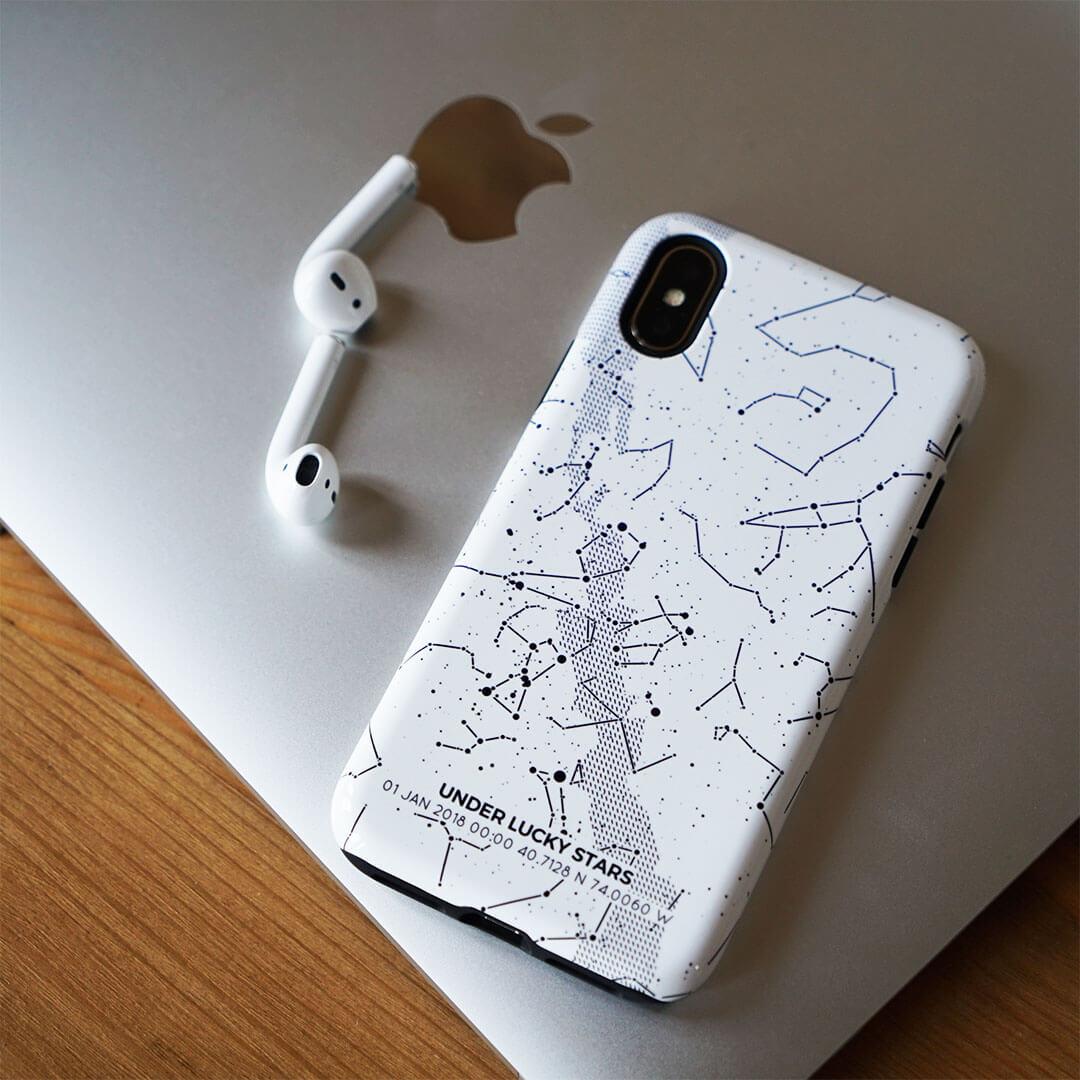 White-phone-case