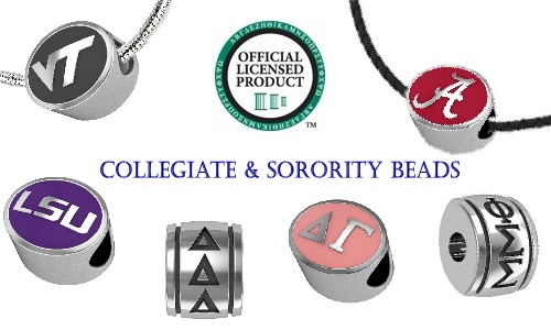 College and Sorority Bead Charms