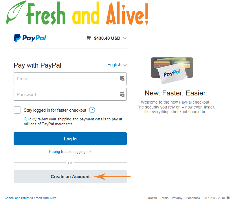 PayPal Credit Example