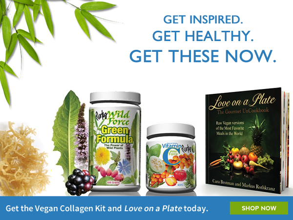 Buy our Vegan Collagen Kit and Vegan Cookbook today.