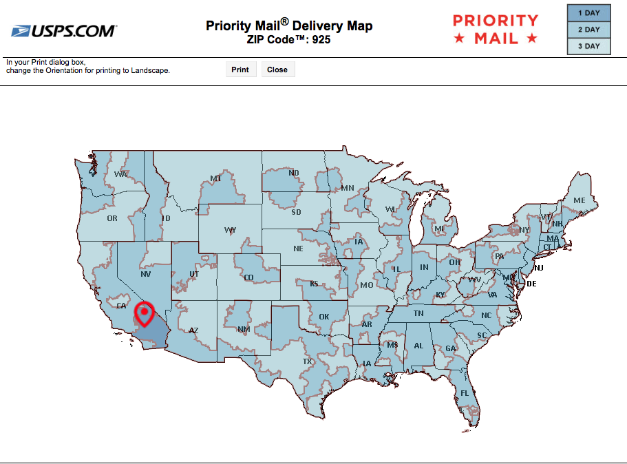 USPS Priority Shipping times