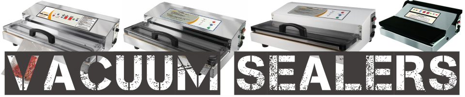 Weston Vacuum Sealers pro-3000, pro-2300, pro-2100, and pro-1100 (shown from right to left)