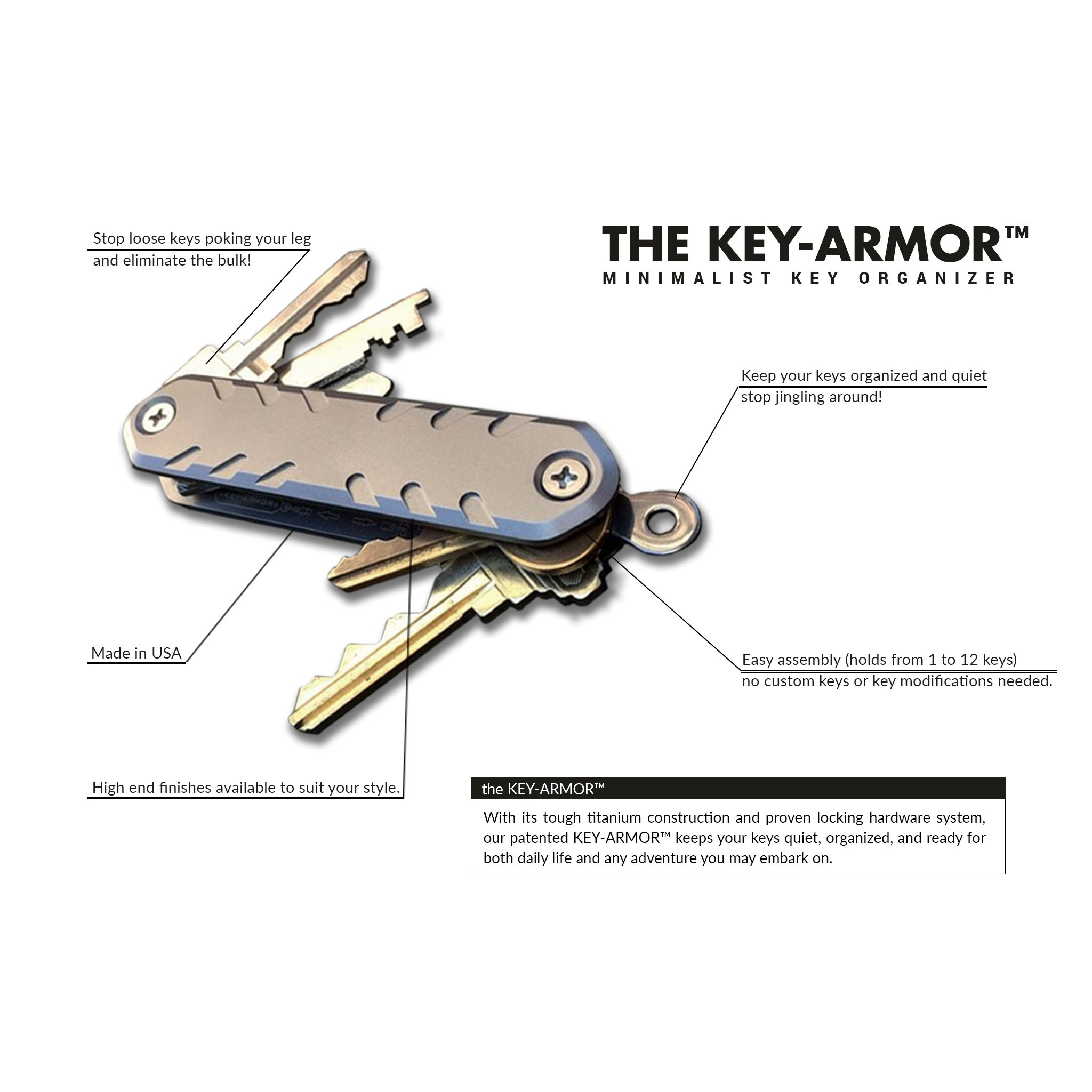 KEY-ARMOR features