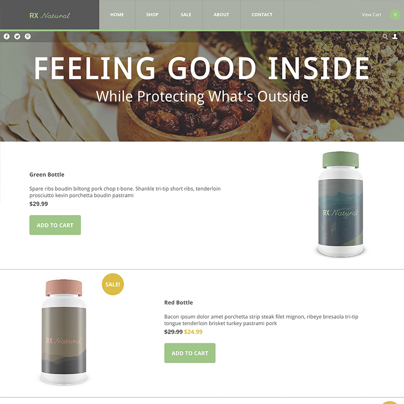 UltraCart StoreFront Theme - Natural