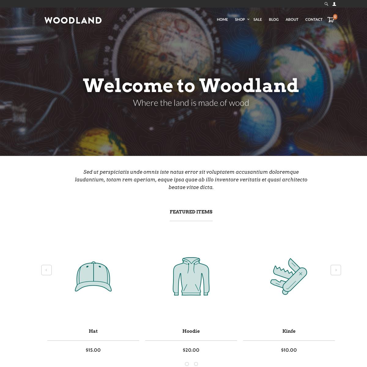 UltraCart StoreFront Theme - Woodland