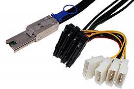 Mini SAS-SAS Drive x 4, Fanout cable, Generic