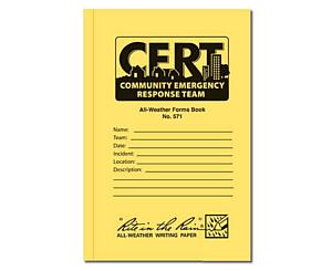 All Weather 48 Page C.E.R.T. Standard Forms Book < Mayday Industries #CTR571