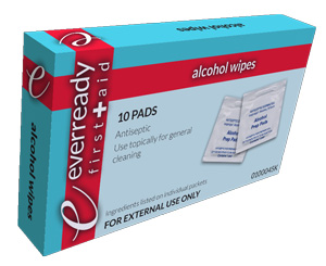 Alcohol Prep Wipes, Box/10 < Everready First Aid