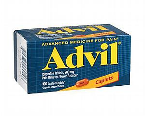 Advil Caplets 200 mg , Bottle of 100 < Wyeth