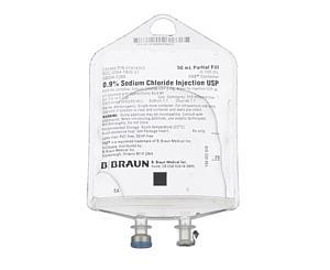 0.9% Sodium Chloride Injection USP, 50 mL, 157 PAB < B Braun #S8004-5384