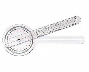 "Plastic Orthopedic Goniometer - 12"""