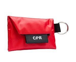 CPR Key Ring w/ One Way Valve (w/ Gloves) < Genuine First Aid #9999-2402
