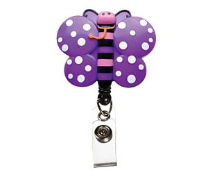 Deluxe Retracteze ID Holder, Butterfly, Print < Prestige Medical #S14-BTF