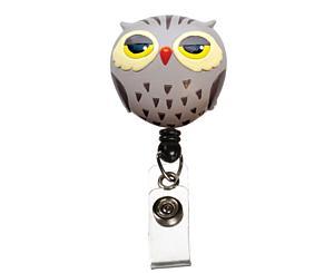 Deluxe Retracteze ID Holder, Owl, Print < Prestige Medical #S14-OWL