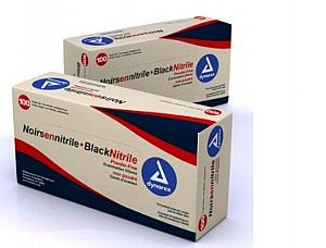 Black Nitrile Exam Gloves, X-Large, Powder Free, Bx/100 < DYNAREX #2524