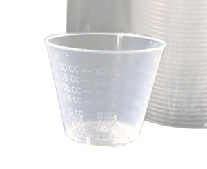 Disposable Plastic Graduated Medicine Cups, 1 oz, Sleev/100