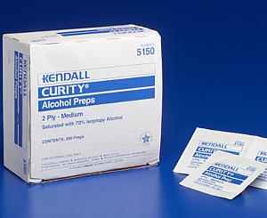 Medium Alcohol Prep Pads, Box/200