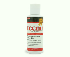 Tecnu Poison Oak And Ivy Skin Cleanser, 4 Oz Bottle
